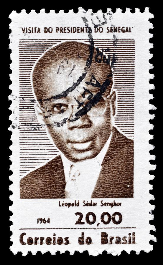 Brazilië op postzegels royalty-vrije stock afbeeldingen