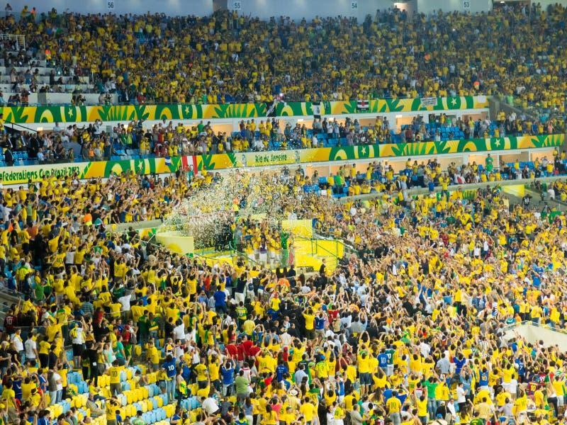 Brazilië vc de Federatieskop 2013 van Spanje - van FIFA stock foto's