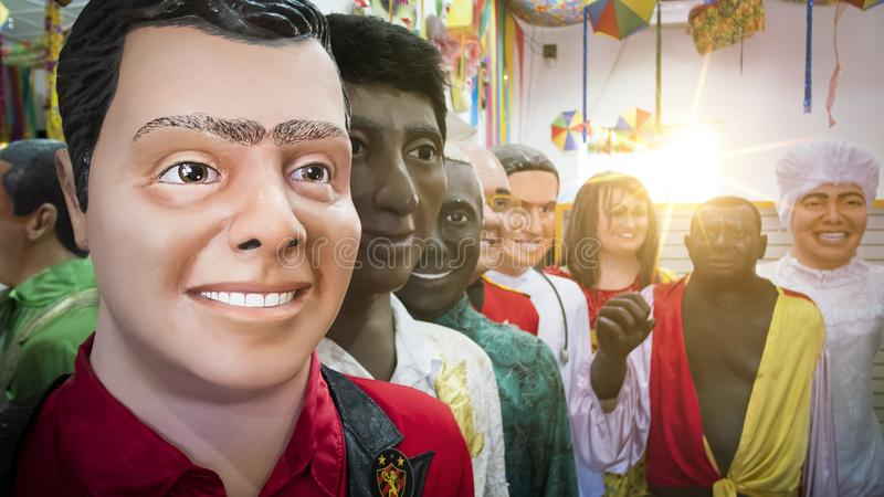 Braziliaans Carnaval-Decor stock afbeelding