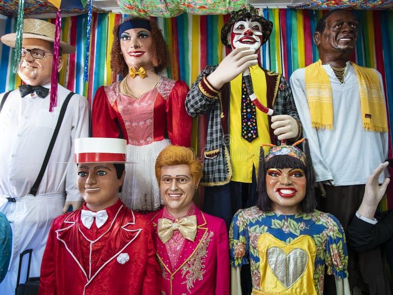 Braziliaans Carnaval-Decor stock afbeeldingen