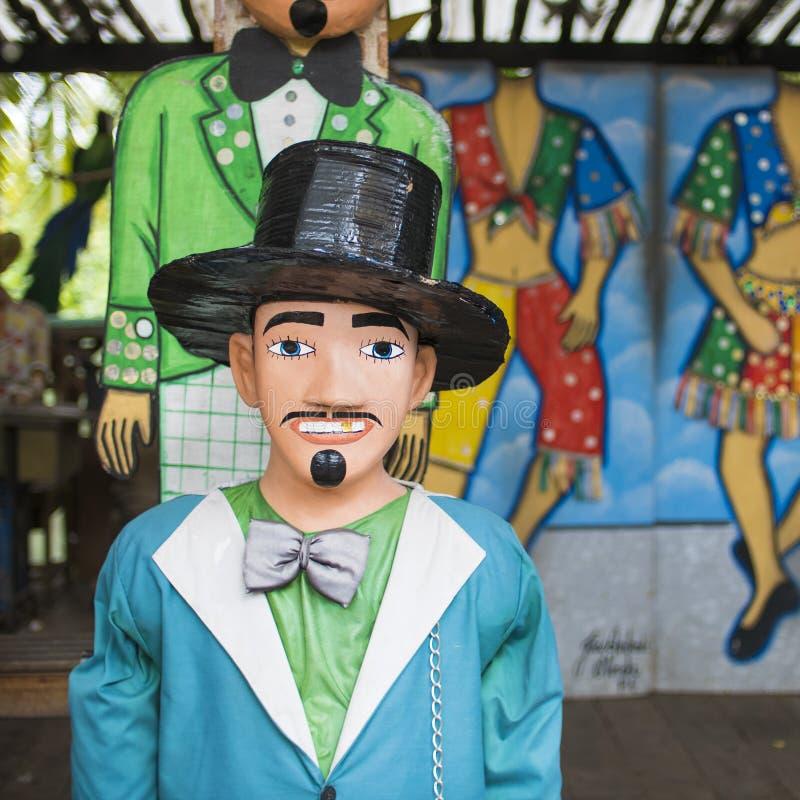 Braziliaans Carnaval-Kostuum stock foto's