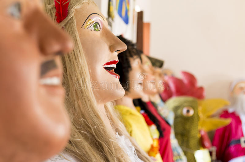 Braziliaans Carnaval-Kostuum stock afbeelding
