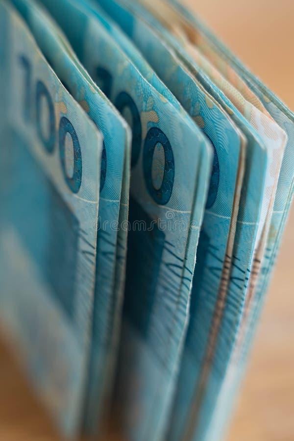 Braziliaans geld, reais, hoge nominaal royalty-vrije stock fotografie