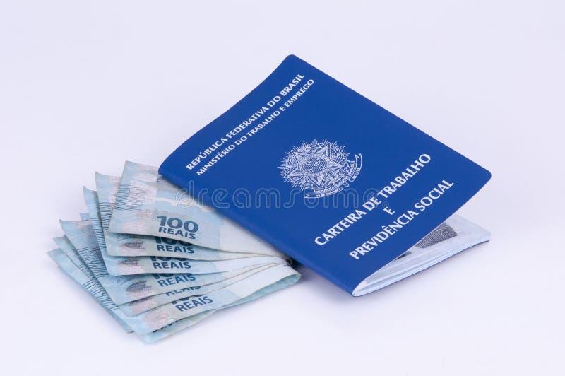 Braziliaans het werkdocument en sociale zekerheiddocument (carteira D stock afbeeldingen
