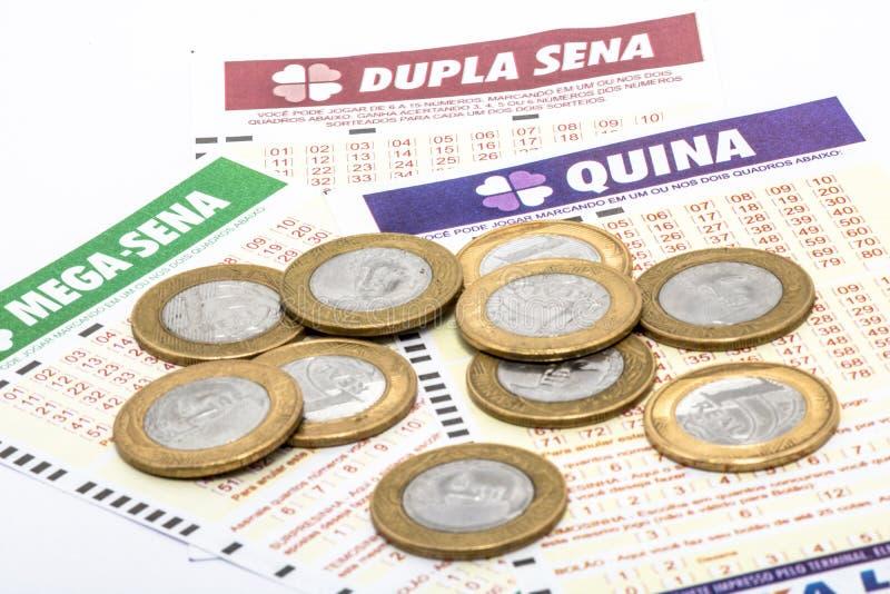 Braziliaans loterijkaartje stock fotografie