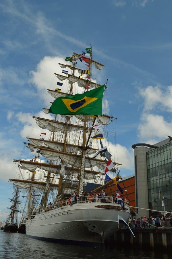 Braziliaans Marine Lang Schip royalty-vrije stock afbeeldingen