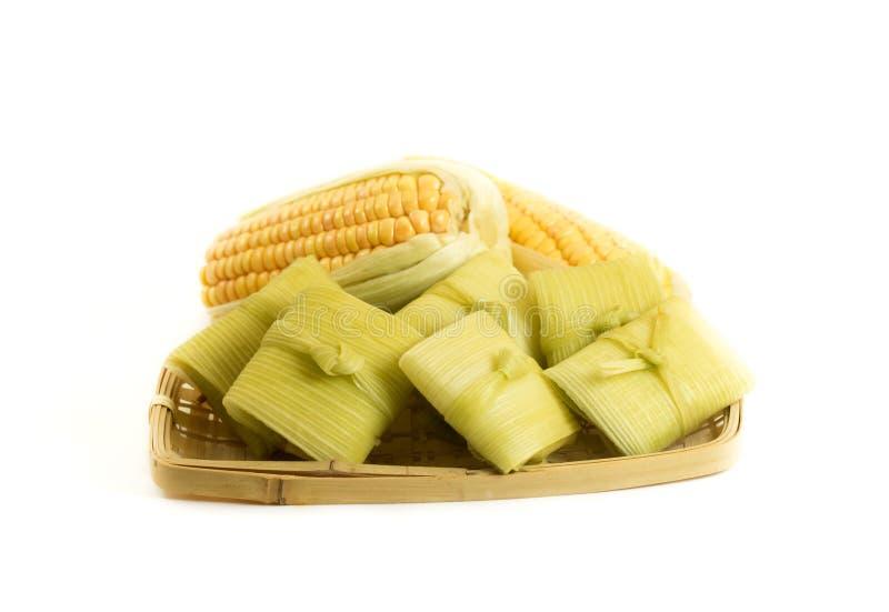 Braziliaans voedsel Pamonha royalty-vrije stock afbeelding