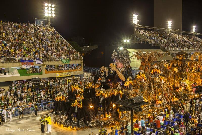 Braziliaanse Coloful Carnaval in Rio De Janeiro royalty-vrije stock foto