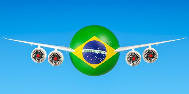 Braziliaanse luchtvaartlijnen en flying& x27; s, vluchten aan het concept van Brazilië 3D r vector illustratie