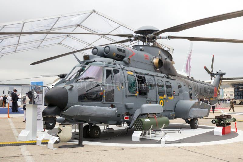 Braziliaanse Marinehelikopter stock foto
