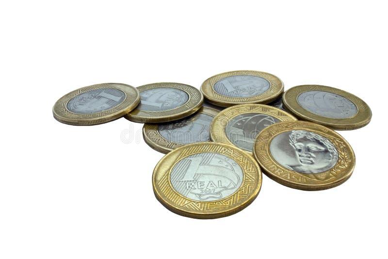 Braziliaanse muntstukken royalty-vrije stock foto's