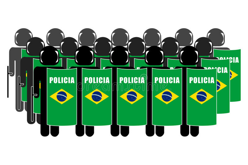 Braziliaanse Relpolitie stock illustratie