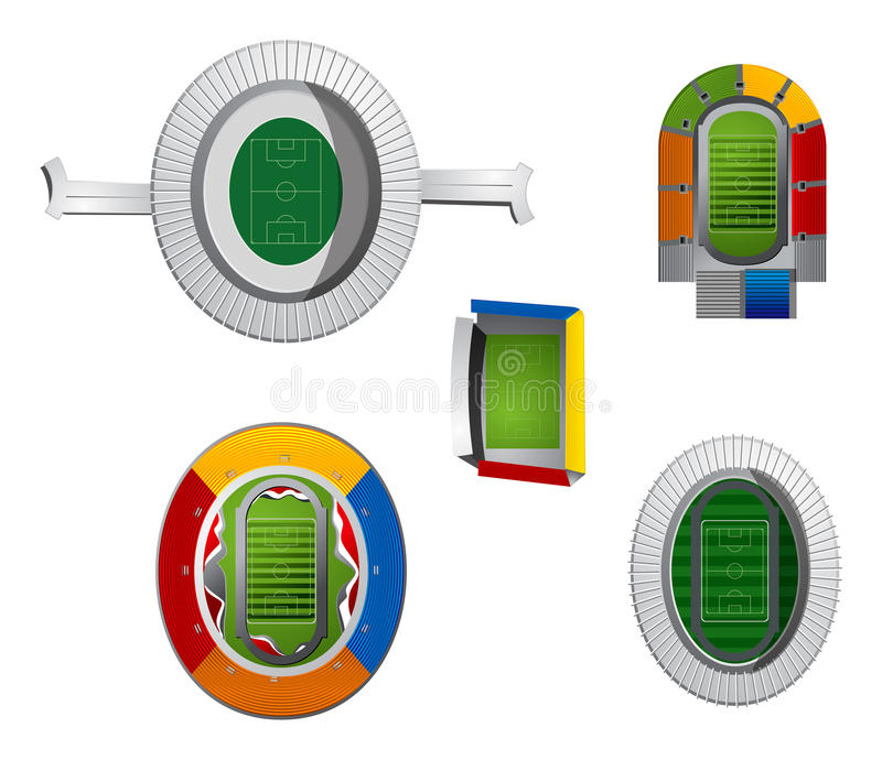 Braziliaanse stadions vector illustratie