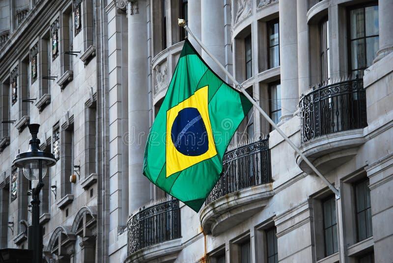 Braziliaanse vlag royalty-vrije stock afbeeldingen