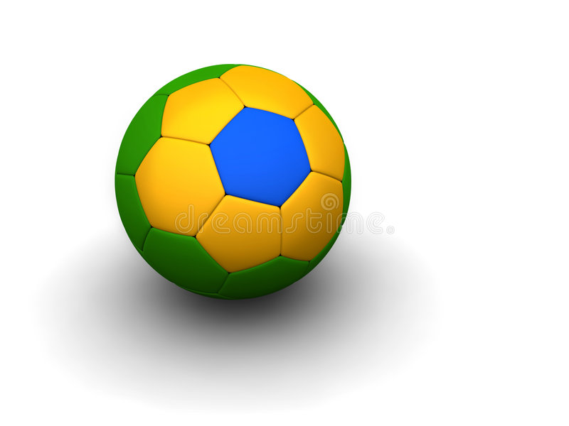 Braziliaanse voetbalbal royalty-vrije stock afbeelding