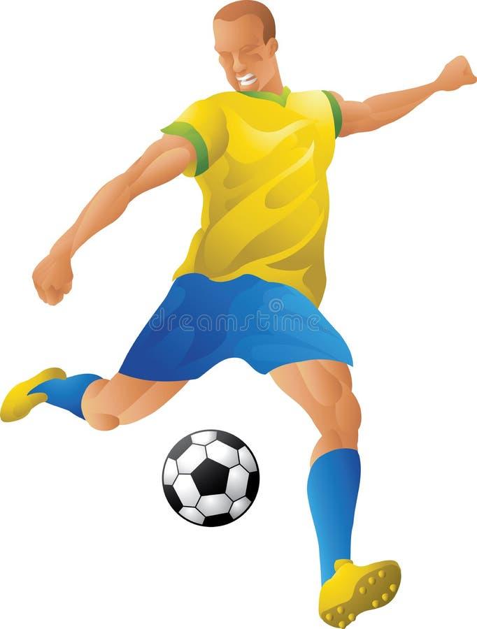 Braziliaanse voetballer stock illustratie