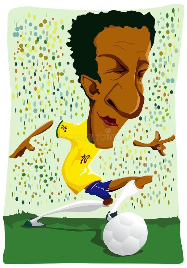 Braziliaanse voetballer. stock illustratie