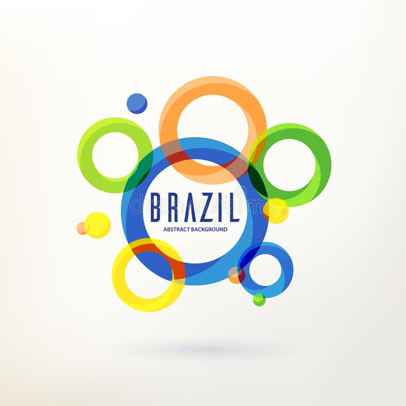 Brazilian abstract background with curcle stock illustration
