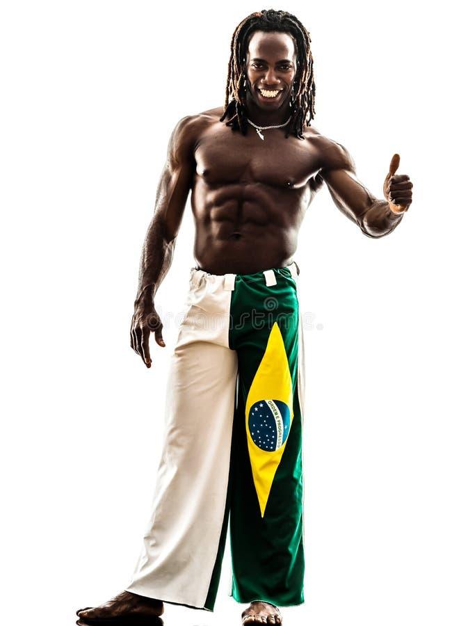 Brazilian  Black Man Thumb Up Royalty Free Stock Photos