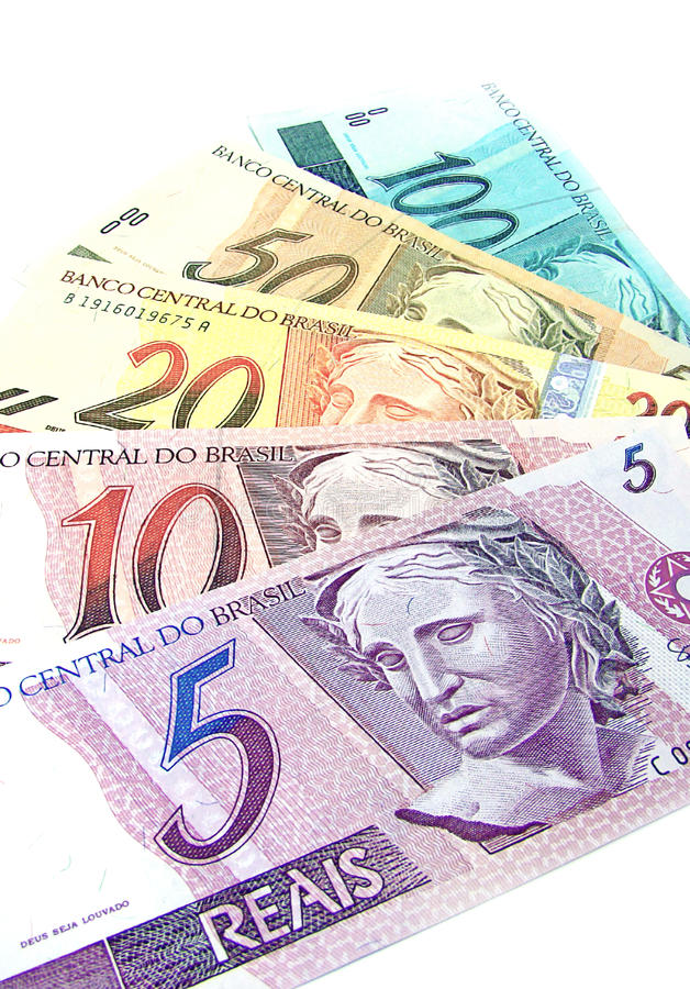 Brazilian currency royalty free stock photos