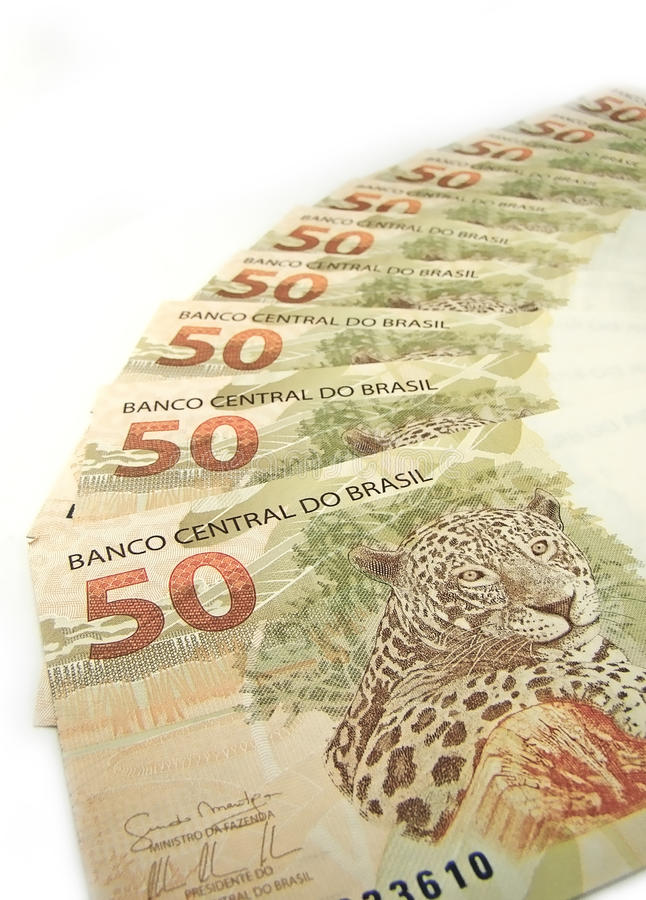 Brazilian currency stock images