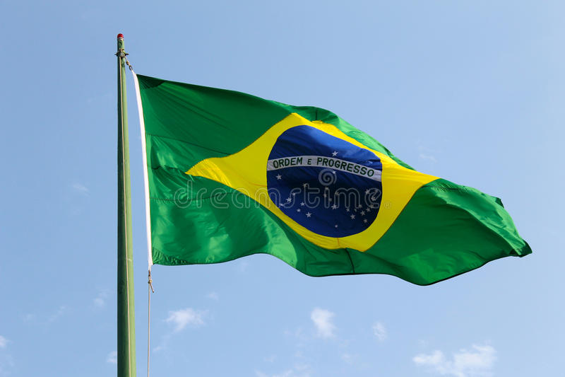 Download Brazilian Flag stock photo. Image of blue, brazilian - 26833912