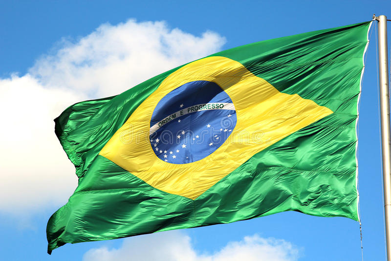Download Brazilian Flag stock image. Image of waving, yellow, destination - 27871113