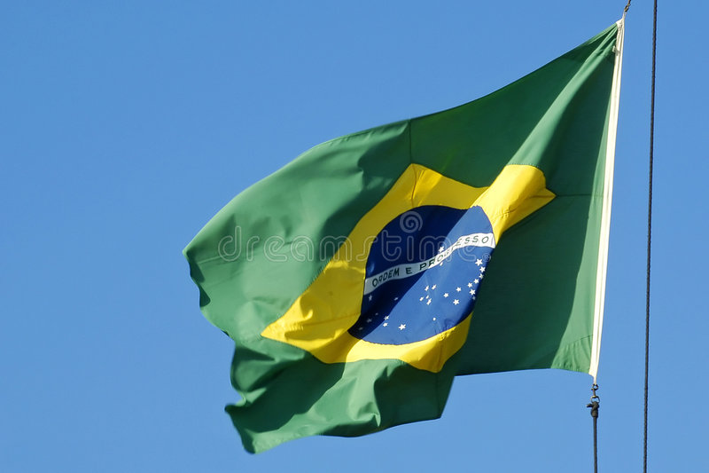 Brazilian flag royalty free stock photo