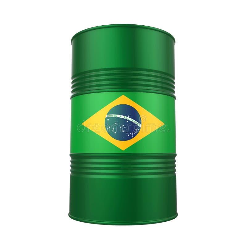 Brazilian Flag Oil Barrel stock illustration