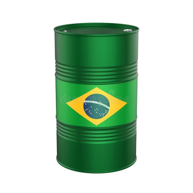 Brazilian Flag Oil Barrel royalty free illustration