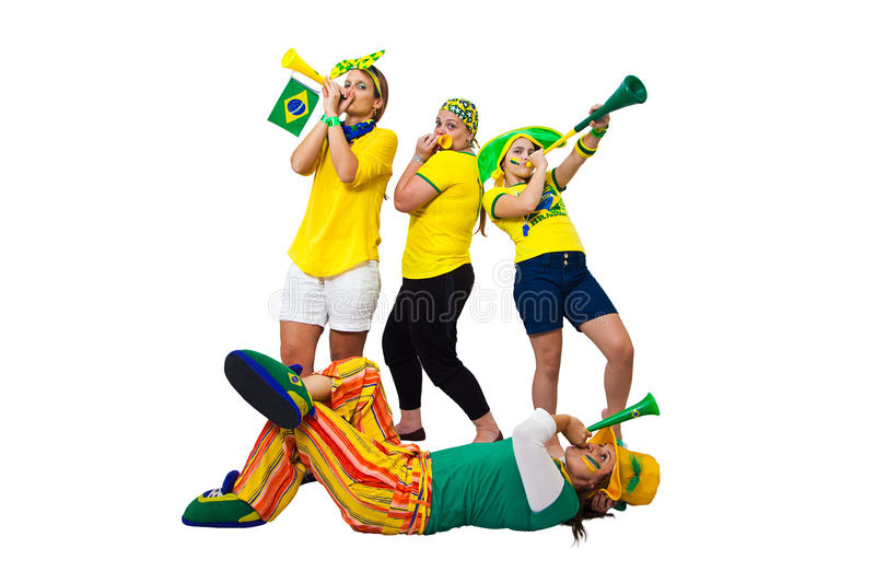 Brazilian girls supporters stock images