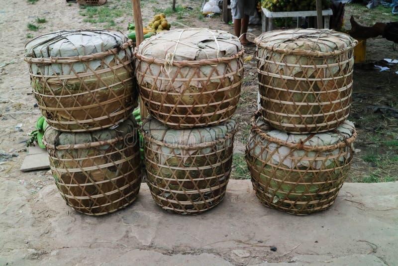 Brazilian handmade indian bucket stock image