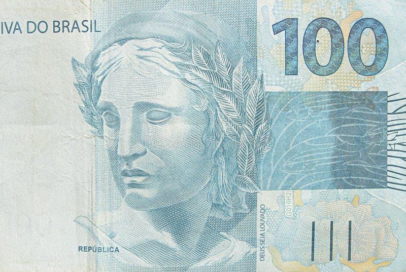 Brazilian hundred real banknote royalty free stock photos