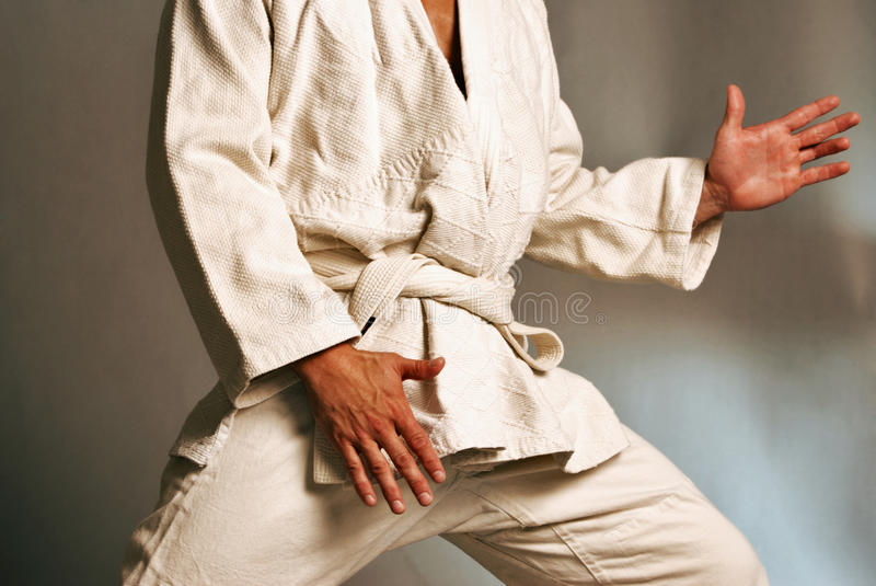 Brazilian Jiu jitsu Gi stock photo