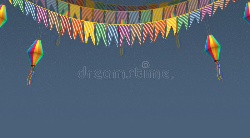 Brazilian Junine Party, background royalty free stock image