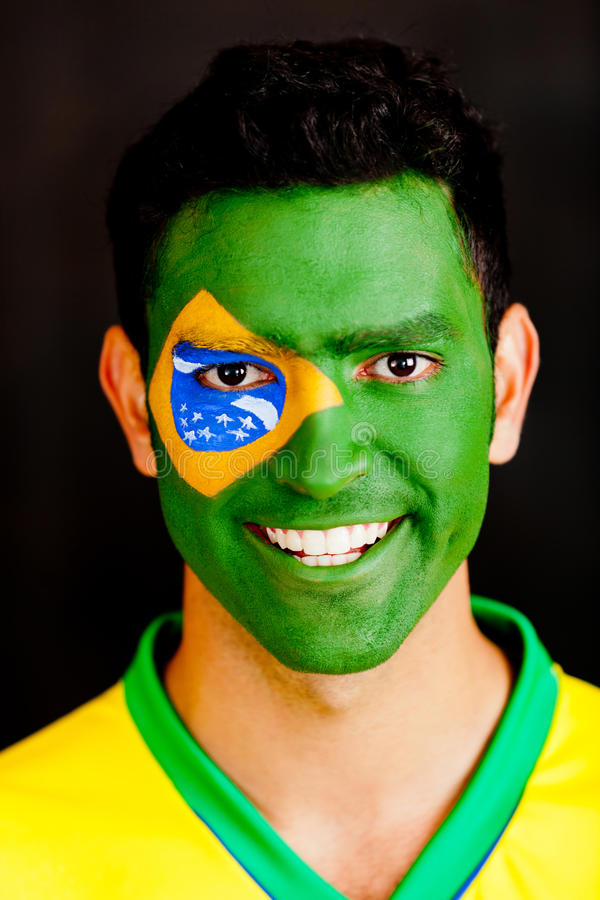 Download Brazilian man stock photo. Image of brazilian, patriotic - 24387788