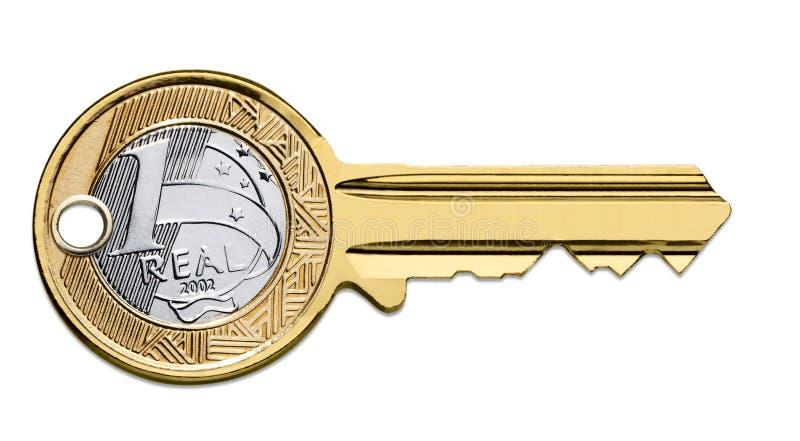 brazilian monety klucz obraz stock