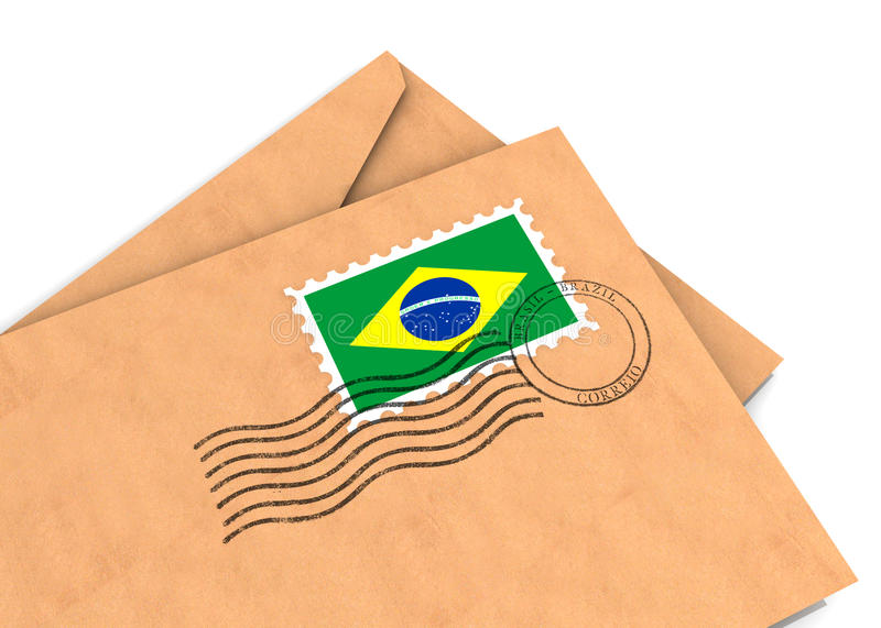 Download Brazilian post stock illustration. Illustration of graphic - 25609770