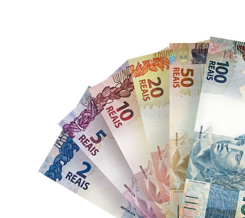 Brazilian Real Bills Background royalty free stock photos