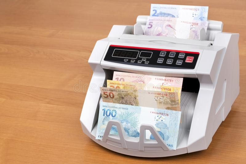 Old Brazilian Money In The Black Wallet Stock Image - Image