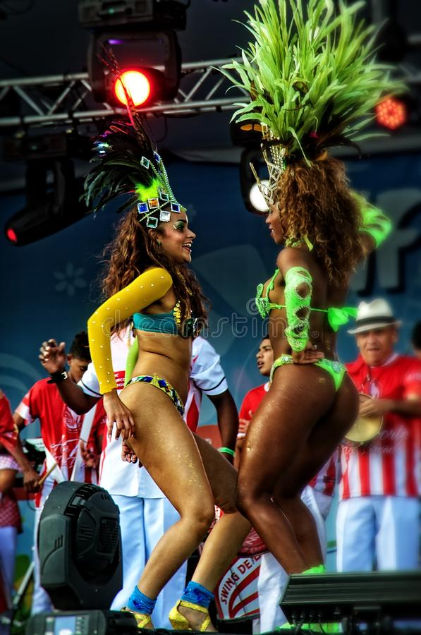 Free Brazilian Samba Dancers On A Stage Sensually Moving Stock Images - 42801104