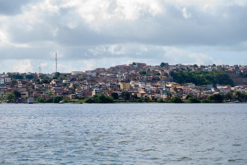 Brazilian slums. Near the coast stock photography