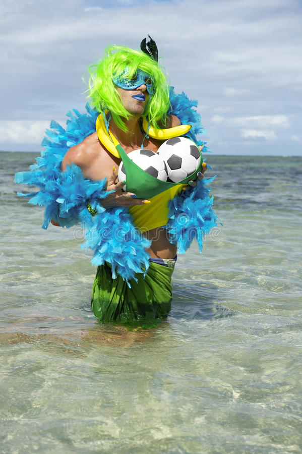Free Brazilian Soccer Ball Football Drag Queen Stock Photos - 40796253