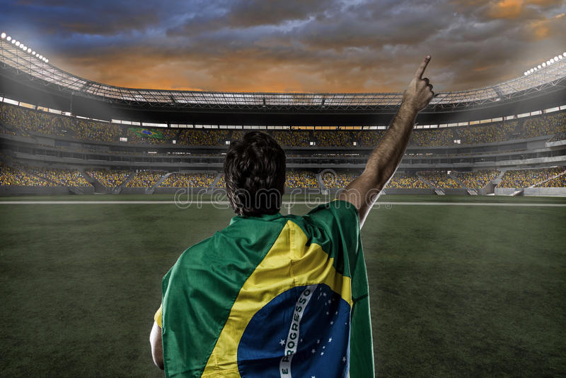 Brazilian soccer player stock images