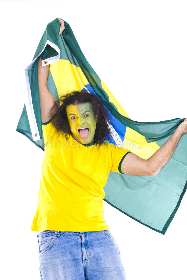 Download Brazilian Supporter stock photo. Image of patriotically - 13856588