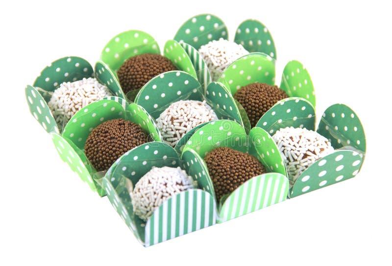 Brazilian sweets, brigadeiro. Many traditional Brazilian sweets, brigadeiro stock images