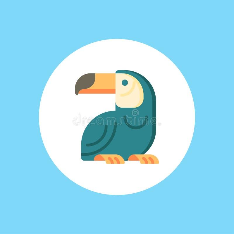 Toucan vector icon sign symbol stock illustration