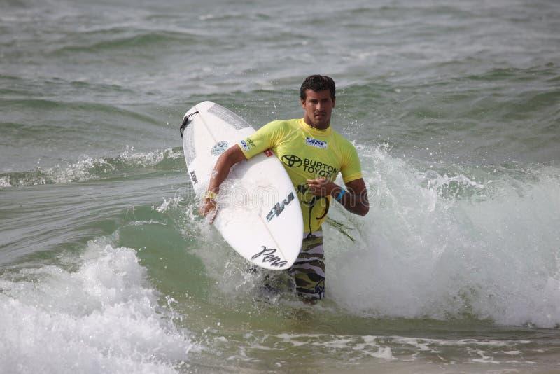 Brazillian Professionele Surfer stock foto