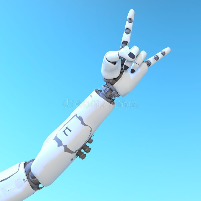 Brazo del robot imagenes de archivo