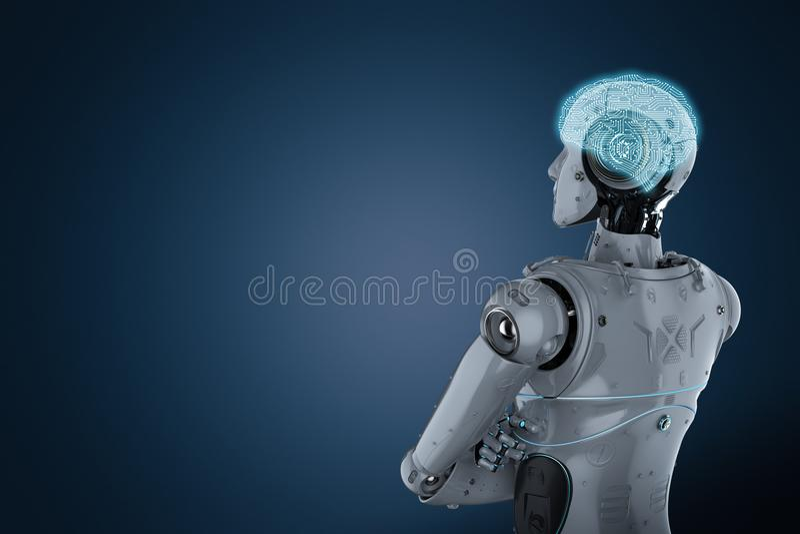 Brazo del robot cruzado libre illustration